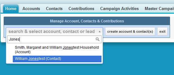 Our Contribution Entry routine makes sure users search first for existing contacts.